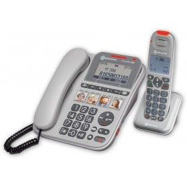 Powertel 2880 Senior corded telephone with amplified cordless handset and direct memory keys Amplicomms