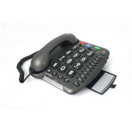 Amplified Telephone for seniors and the hearing impaired - AmpliPower 40 - Geemarc (+40dB)- Black