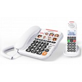 Swissvoice Xtra 3155 Corded Fixed Phone White + DECT Handset