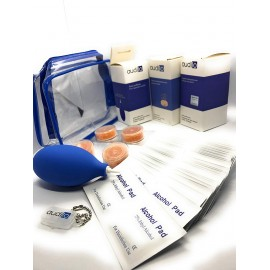 Hearing Aid Cleaning: Cleaning Wipes - Drying Tablets - Blowing Pear - Hearing Aid Battery Holder