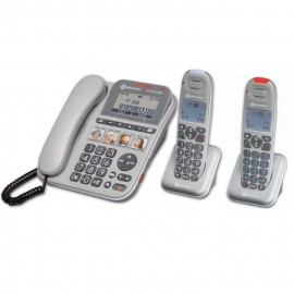 Trio Pack Amplified Senior Corded Phone with Direct Memory Keys Amplicomms Powertel 2880