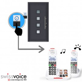 Home pack: Swissvoice XTRA 2155 cordless telephone with answering machine + XTRA DOORBELL 8155 doorbell
