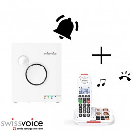 Home pack: Swissvoice XTRA 2155 cordless phone with answering machine + Ringer & Flash 8155 Ringer