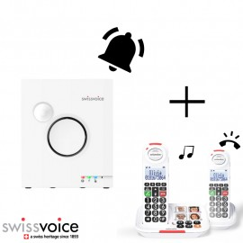 Home pack: Swissvoice XTRA2155 DUO cordless phone + Flash 8155 Ringer