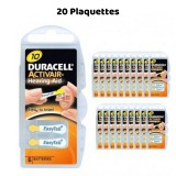 Piles Auditives Duracell Activair 10, 20 Plaquettes