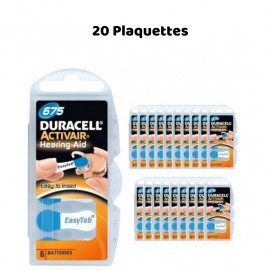 Piles Auditives Duracell Activair 675, 20 Plaquettes
