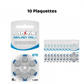 Piles Auditives Rayovac 675 Implant Pro+, 10 Plaquettes