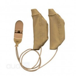 Protective Cover Duo EarGear for Cochlear Implants with Cord, Beige