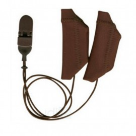 Duo Protective Cover EarGear for Cochlear Implants with Brown Cord