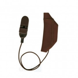 Mono Protective Cover EarGear for Cochlear Implants with Cord, Brown