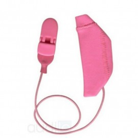 Mono Protective Cover EarGear for Cochlear Implants with Cord, Pink