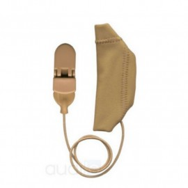 Mono Protective Cover EarGear for Cochlear Implants with Cord, Beige