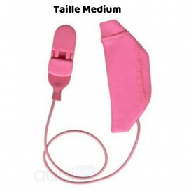 Mono Hearing Aid Cover Size M with Drawstring, Pink