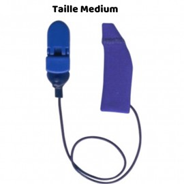 Mono Hearing Aid Cover Size M with Drawstring, Blue