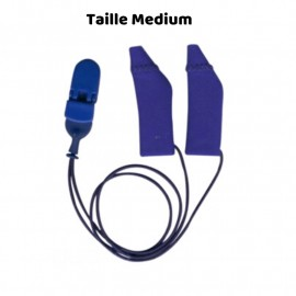 Hearing Aid Protector Duo Case Size M with Drawstring, Blue