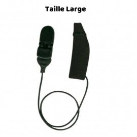 Mono Protective Cover EarGear for LARGE size Hearing Aids with Cord, Black