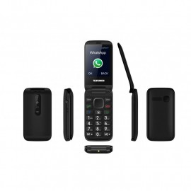 Clamshell mobile phone with Facebook and Whatsapp - TELEFUNKEN TM 360 COSI- Black