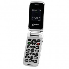 Clamshell mobile phone Geemarc CL8150 with SOS button