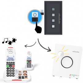 Home Pack: DUO XTRA 2155 Cordless Phone + 8155 Doorbell + Flash Ringer
